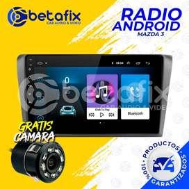 RADIO ANDROID PARA MAZDA 3 2004 UP GPS BT USB WIFI BETAFIX DESDE