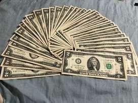 Billetes de 2 dolares