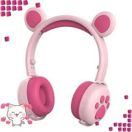 Audífonos Diadema Bluetooth Orejas De Oso
