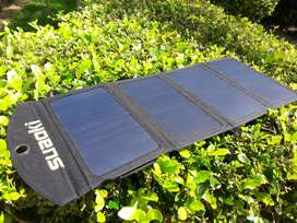 Cargador panel solar 25w Suaoki celulares Powerbank tables