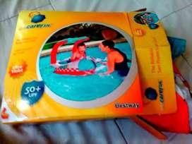flotador para psicina Bestway, un solo uso, grande, y uno de regalo