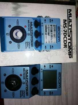 Pedalera  ZOOM MS-70CDR. Guitarra y bajo