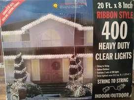 Red de 400 luces navideñas interior y exterior