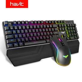 Teclado Mecánico Blue Switches Y Mouse Gaming Havit