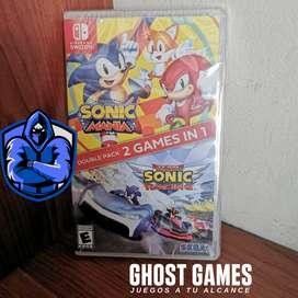 Sonic double pack totalmente Nuevo y sellado para Switch
