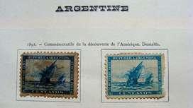 Sellos postales de Argentina años 1892 – 1898