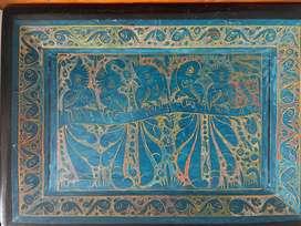 Bandeja madera pintada a mano