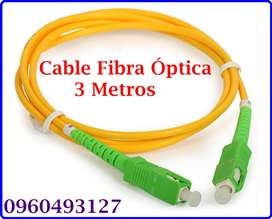 Cable Fibra Óptica 3 Metros $8