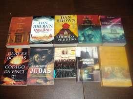 Lote de 10 libros. El Código Da Vinci y Otros. Muy buen estado