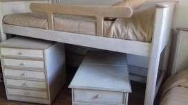 Juego de Dormitorio Infantil  Roble Patinado