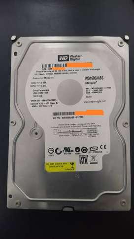 Disco duro westerndigital 160gb