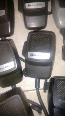 Lote de 24 Microfonos Midland para Cambio de cable resortado