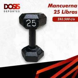 Mancuerna/Pesa en hierro 25 Libras Hexagonal