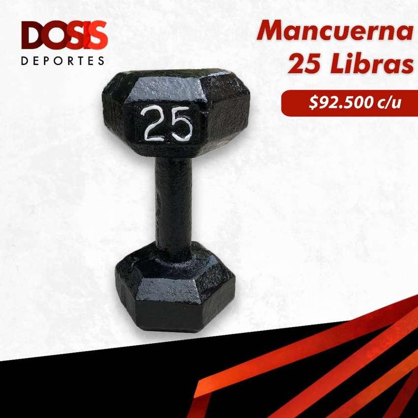 Mancuerna/Pesa en hierro 25 Libras Hexagonal 0