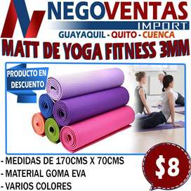 MATT DE YOGA FITNESS DE 3MM EN DESCUENTO EXCLUSIVO DE NEGOVENTAS