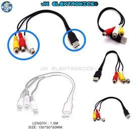Cable Adaptador TV USB 1.5mts Macho a 3RCA AV Hembra Audio Video