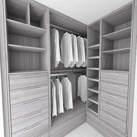 Walk in closets diseños personalizados más fabricación