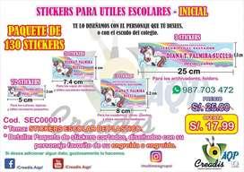 Utiles Escolares - Stikers