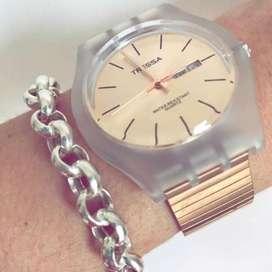 Relojes Tressa Gold Y Rose