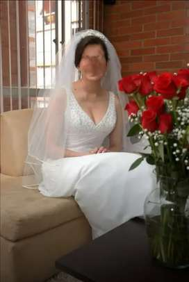 Hermoso vestido de novia impecable e importado