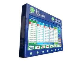 Cartel Electrónico Quiniela Automático Interactivo Led 43
