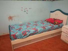 Vendo cama con cajón
