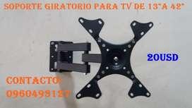 SOPORTE GIRATORIO PARA Tv D 13 HASTA 42 A 20USD