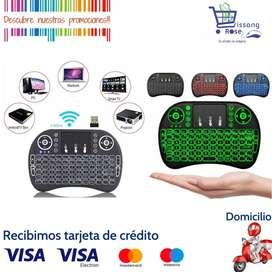 Mini Teclado Inalambrico Mouse USB Keyboard Smart Para Tv, Computador, Teclado Iluminadl