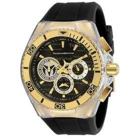 Reloj Hombre Technomarine Cruise Dorado Dial Negro 118123
