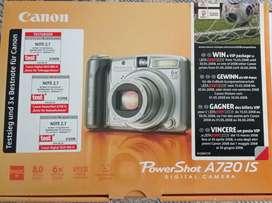 Cámara Digital Canon modelo Power Shot A720 IS, 8.0 MP 6X Optical Zoom