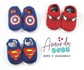 Zapatos Superhéroes superman spiderman capitan america
