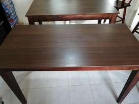 Mesas de madera y MDF laminado