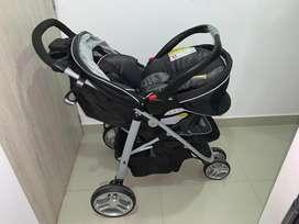 Coche mas silla de carro Graco sistema travel system