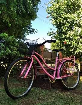bicicleta rodado 26 con canasto