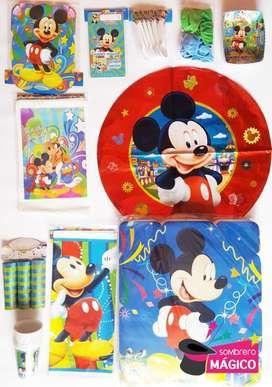 Kit Fiesta Mickey para 24 personas