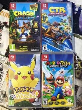 Juegos Nintendo switch, precios en la descripción