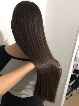Vendo cabello extra virgen 30cm - 8 trenzas