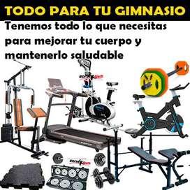 maquinas para ejercicios para hogar, multigym, pesas, pisos, barras, caminadoras, bicicletas