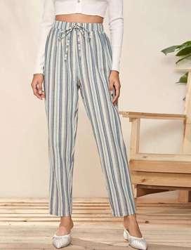 Pantalones boho de rayas