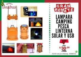 Lámpara con panel solar
