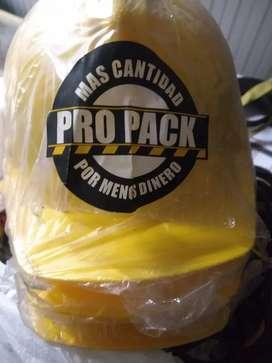 3 Cascos amarillos NUEVOS ECO Propack