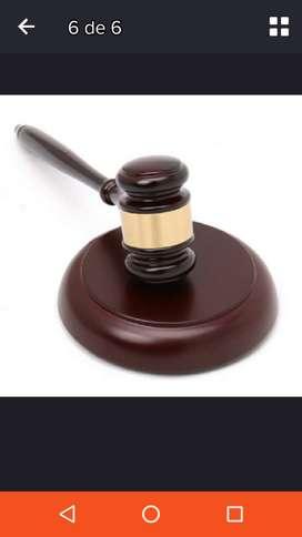 Martillo madera juez rematador martillero