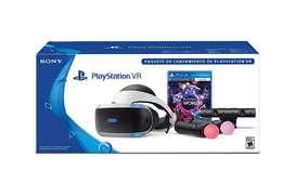 Casco de Realidad virtual para PS4 + Camara + Controles + 4 Juegos de