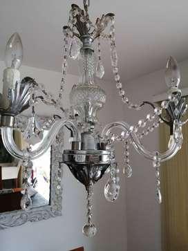 Vendo lámpara de cristal precio de oportunidad