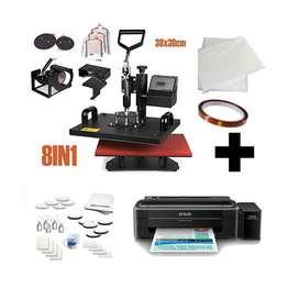 Sublimadora Termofijadora 8 En 1 + Impresora Epson L3110