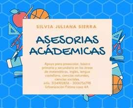 ASESORÍAS ACADÉMICAS PARA ESTUDIANTES DE PREESCOLAR Y BÁSICA PRIMARIA