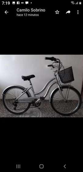 Hermosa bicicleta para dama
