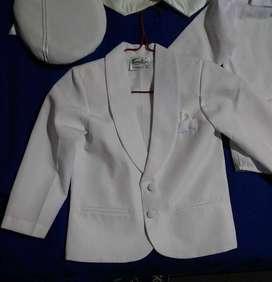Terno blanco para niño (Ajuar)