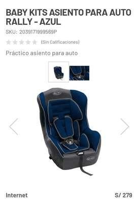 Baby Kids Asiento Pará Auto Rally-Azul