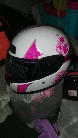 Casco para Moto para Mujer blaco con Diseño